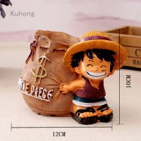 Anime One Piece Luffy resin Action Figure Office Desk Pen Holder