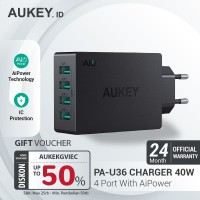 Aukey Charger 4 Ports 40W AiQ - 500262