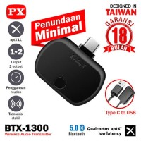 Bluetooth Transmitter Audio USB Type C HD Stereo PX BTX 1300