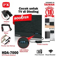 Antena TV Smart Digital Analog PX HDA 7000 Booster Indoor LED Bar