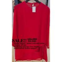 Blouse Wanita 26116- Sub- blouse merah layer