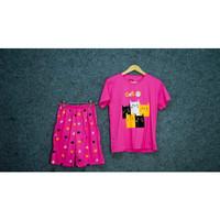 Setelan Piyama Baju Tidur Wanita Celana 3/4 Premium Jumbo Original