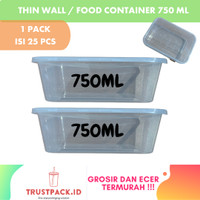 Kotak Makan 750 ml Tempat Box Nasi Microwave Thinwall Food Container