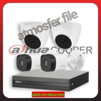 PAKET CCTV DAHUA 4CH UHD 4MP ORIGINAL + HDD 1TBLENGKAP