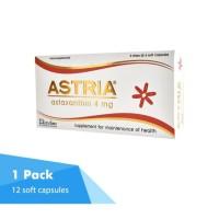 ASTRIA Astaxanthin 4mg Antioksidan Tinggi 1 Box ISI 12 Kaspul 2 Strips