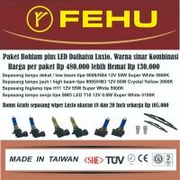 Paket bohlam plus LED Fehu untuk Daihatsu Luxio Warna sinar kombinasi