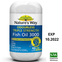 Natures Way Odourless Triple Strength Fish Oil 3000mg - 70 caps