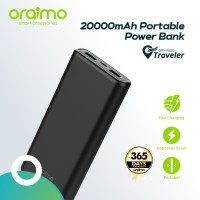 Oraimo Traveler Dual Port 20000 mAH Fast Charging Powerbank OPB-P202D
