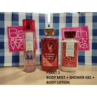 BATH & BODY WORKS BBW WINTER CANDY APPLE GIFT SET