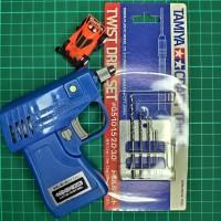 TAMIYA 74041 74014 ELECTRIC HANDY DRILL /TWIST DRILL SET MADE IN JAPAN