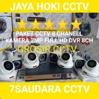 Promo Paket CCTV 8 Channel 8 Camera 3MP Full HD Camera 500GB