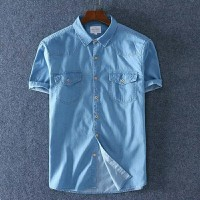 Nt fashion pria Kemeja After jeans blue colour pakaian termurah