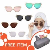Kacamata UV Matahari - Fashion Eye Cat Wanita Hijab Korea - Free