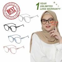 Kacamata Anti Radiasi (Design Korea) Pria dan Wanita Hijab - HM449 (