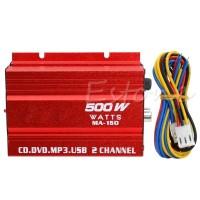 Ampli Mobil Mini Hi-Fi 500W 2 Channel Stereo Audio Amplifier For