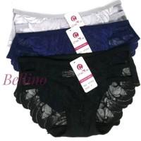 Celana Dalam Wanita Brukat Transparan Model Strap / CD Cewek Model