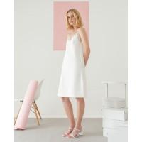 Lace Camisole Dress White