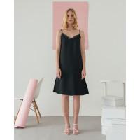 Lace Camisole Dress Black