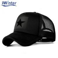 IWINTER Topi Trucker Baseball Star Quick Drying Mesh SMT-ZHL23 - Black