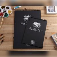 Potentate Black Paper Wire Sketch Book A4 - 120gsm