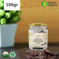 Organic Whole Roasted Cocoa Nibs Halal | Minang Kakao | 100gr