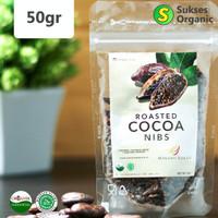 Organic Whole Roasted Cocoa Nibs Halal | Minang Kakao | 50gr