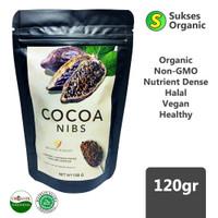 Organic Cocoa Nibs Snack Sehat Halal Super Food | Minang Kakao | 120gr