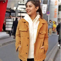 Jaket Jeans Denim Big Size Wanita WARNA (Kualitas Premium)