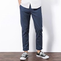 Celana Chino Panjang Pria Chino Pants Wood Soon Jeans Slim Fit Navy
