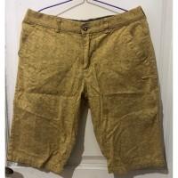 Celana Pendek Pria Safari Pattern Model Sahara Brown