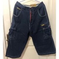 Celana Jeans Denim Akademiks Garment New York NY Grand Dad Style Cargo