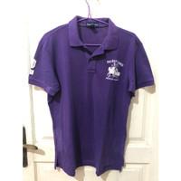 Kaos Polo Ralph Lauren PRL Pria Number 2 Purple Bleecker Classic