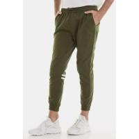 Celana Jogger Erigo Pants Tobby Green Stripe Unisex Dark Olive
