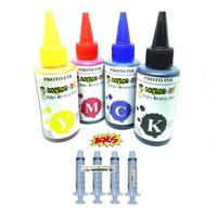 Tinta printer HP 100ML 4 warna Dye Photo Ink FREE Spuit