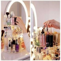 Rak Organizer Acrylic Make Up / Kosmetik 360 Derajat Putar