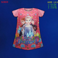 (DCK03) Daster Anak Frozen Beautiful Dream Usia 2-5 Tahun