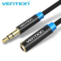 Vention B06-1M Kabel Extension Audio Aux 3.5mm Male to Female - Hitam