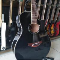 Gitar akustik yamaha APX 500 elektrik EQ TUNER bonus tas dan senar