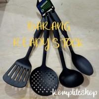 Kitchen utensils set silicon cooking 4in1/sendok goreng set hitam 4in1