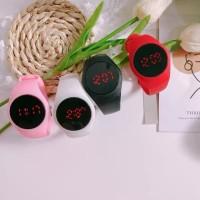 JAM TANGAN WATCH RUBBER Jam tangan elektronik HITAM TOUCH SCREEN CASE