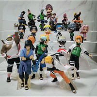 Action Figure Naruto Set isi 6 pcs / Topper Kue Naruto Sasuke Gaara - Set A