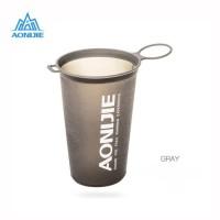 AONIJIE 200ml Folding Soft Water Cup BPA - Gelas Lari Marathon - Gray
