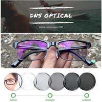 kacamata half frame gantung minus/plus/silinder pria lensa photocromic