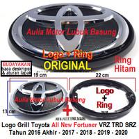emblem logo toyota 19 cm latar + ring grill fortuner vrz trd srz hilux