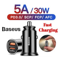 BASEUS Car Charger 2 USB 5A 30W Fast Charging