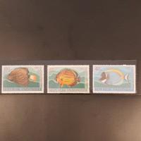 1 Set Perangko Ikan Laut Hias Indonesia - 1973 - Prangko Vintage RI