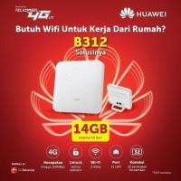 UNLOCK ROUTER MODEM HUAWEI B312 4G LTE - FREE TELKOMSEL 14GB