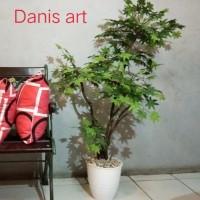 Bonsai Pohon/ Bonsai maple/ Pohon plastik/ Bonsai palsu