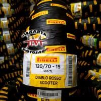 BAN Motor XMax & Forza Pirelli Diablo Rosso Scooter 120/70 Ring 15