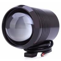 Lampu Tembak Motor LED High Low Beam U2 1200 Lumens 30W - Black